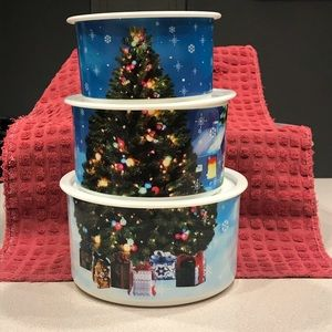 CHRISTMAS SUPER CUTE STACKABLE CONTAINERS